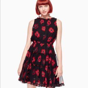 Kate Spade Poppy Silk Mini Dress